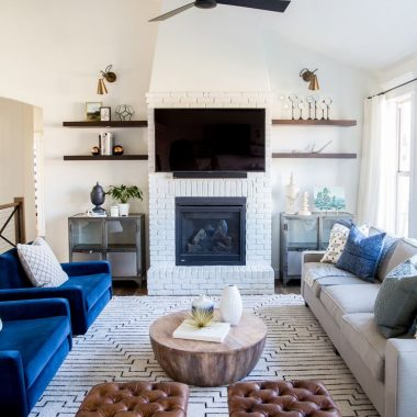 Room Redo | Eclectic Textural Living Room