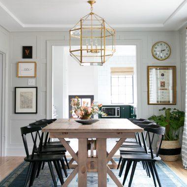 Room Redo | Transitional Farmhouse Dining Room
