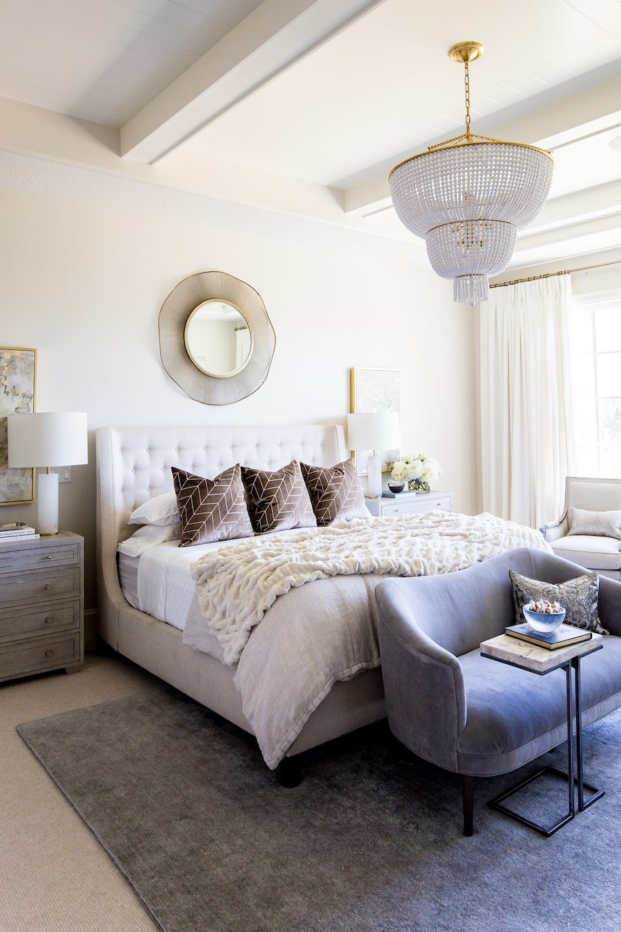 The Luxe Lifestyle Master Bedroom Reveal: A Neutral Glam Bedroom For Emily Of The Ivory Lane