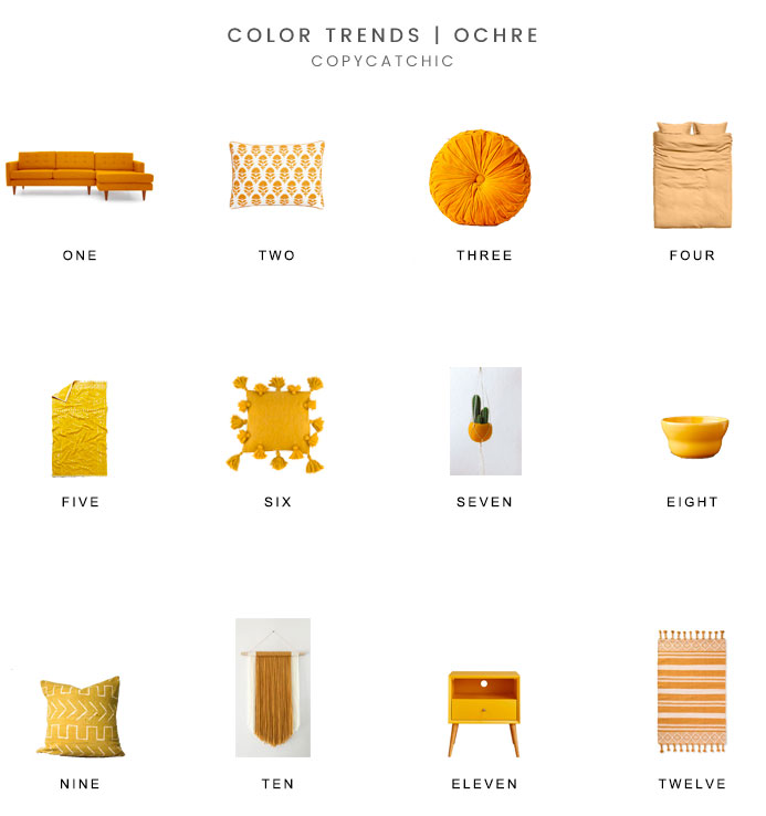 The perfect accent color for fall 2017 - ochre! An earthy warm hue that adds the perfect fall touch to your home | copycatchic luxe living for less budget home decor and design latest home trends