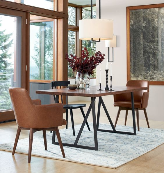 Rejuvenation Dexter Arm Chair $499 vs Urban Outfitters Nora Saddle Chair $129 leather dining chair look for less copycatchic luxe living for less budget home decor and design daily finds