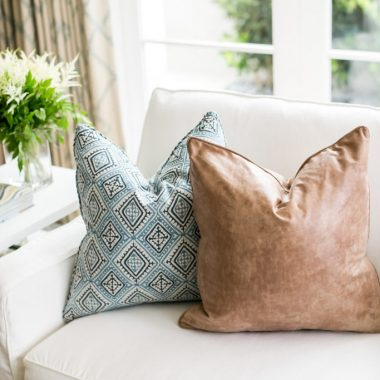 Daily Find | Pottery Barn Pieced Leather Pillow Cover