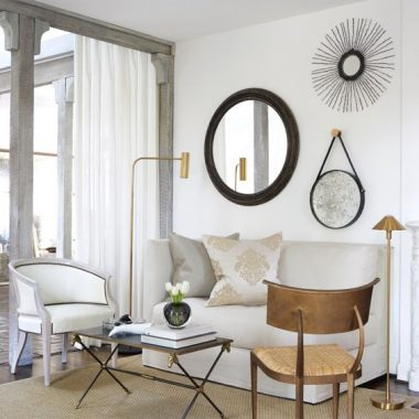 Arteriors Expedition Accent Wall Mirror $492 vs Anthropologie Sailor's Mirror $119 round hanging mirror look for less copycatchic luxe living for less budget home decor and design daily finds