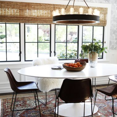 Lamps Plus Lacey Wide Round Black Chandelier $500 vs World Market Round 12-Light Edison Bulb Chandelier $280 round bulb chandelier look for less copycatchic luxe living for less budget home decor and design daily finds