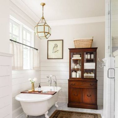 A farmhouse bathroom featured in Country Living gets recreated for less by copycatchic luxe living for less budget home decor and design room redos