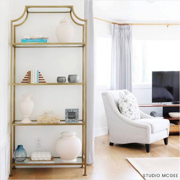 Ballard Designs Silvia Etagere 999 Vs Mercer 41 Nichols Standard Bookcase 160 Gold Look For