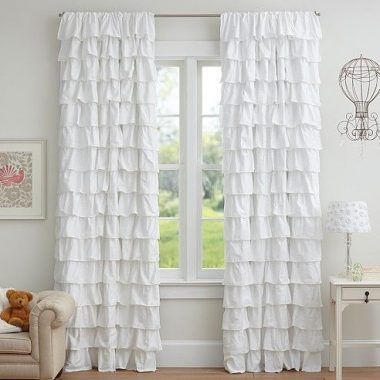 Daily Find | Pottery Barn Kids Tiered Ruffle Sheer Panel