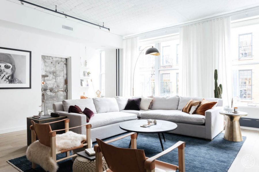 A muted modern living room by Homepolish gets recreated for less copycatchic luxe living for less budget home decor and design room redos