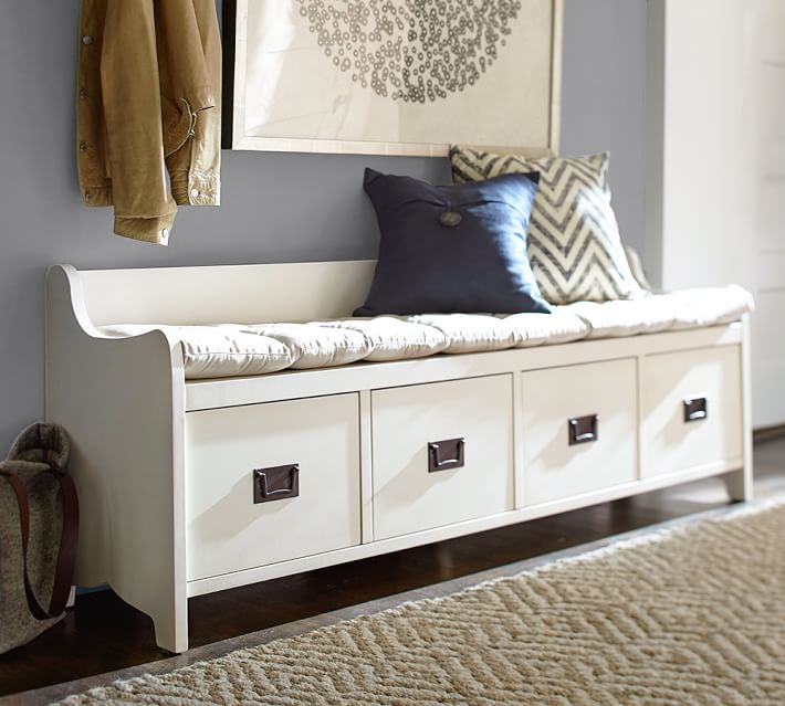 Pottery Barn Wade Bench $1099 vs Birch Lane 4-Drawer Storage Bench $270 storage bench look for less copycatchic luxe living for less budget home decor and design daily finds