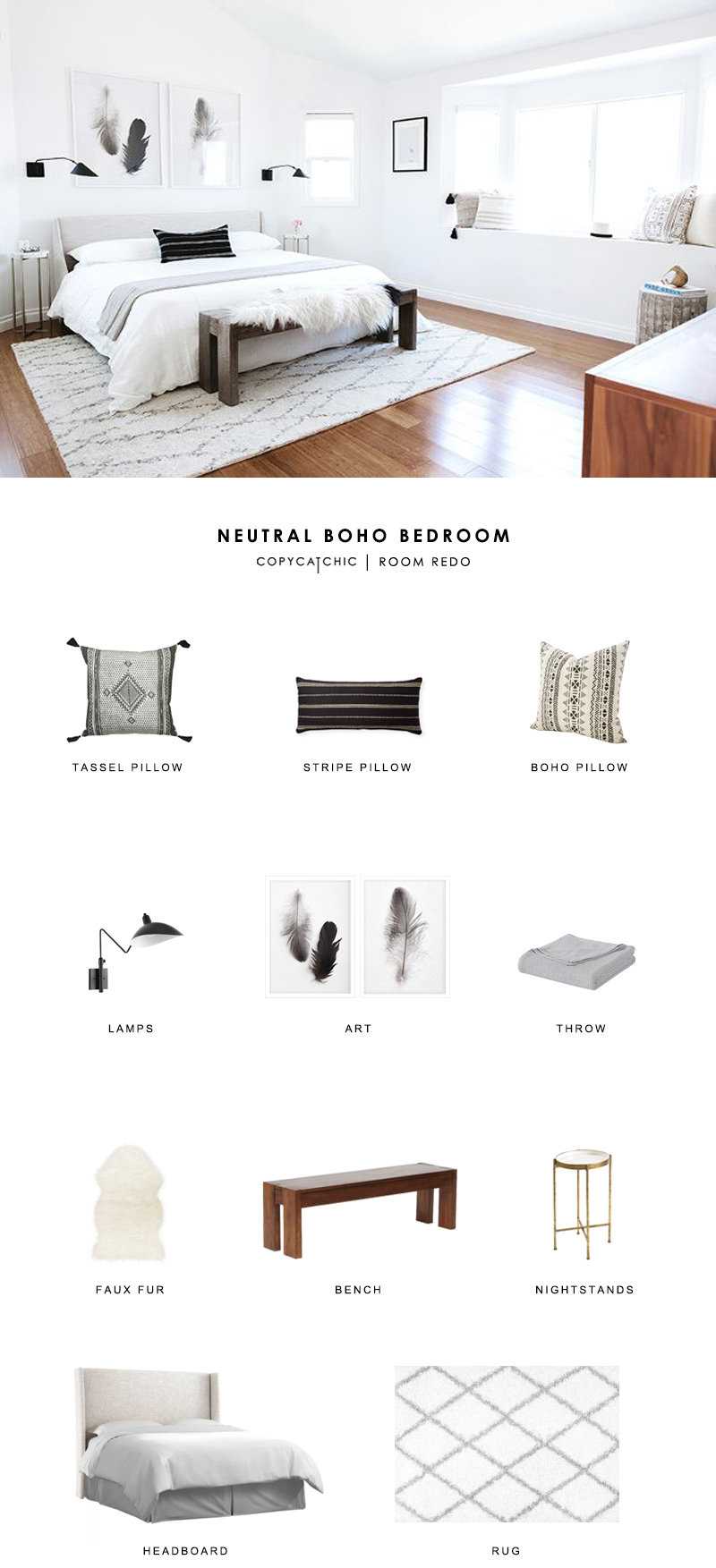 This neutral boho bedroom by Anne Sage gets recreated for less by copycatchic luxe living for less budget home decor and design room redos