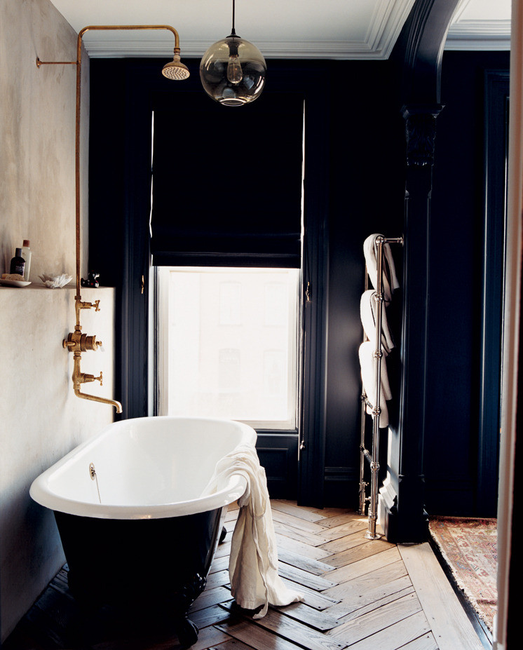 Rejuvenation 5' Clawfoot Tub with Black Exterior $3,129 vs MTD Vanities Redondo Soaking Bathtub $1,166 matte black bathtub look for less copycatchic luxe living for less budget home decor and design daily finds