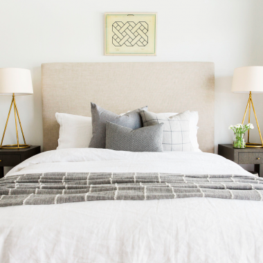 Daily Find | Restoration Hardware Slipcovered Parsons Platform Bed