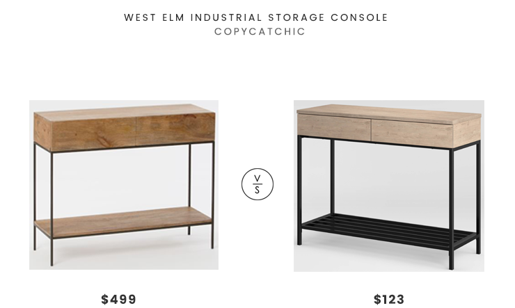 Beau West Elm Industrial Storage Console $499 Vs Target Project 62 Loring Console  Table $123 Modern Industrial