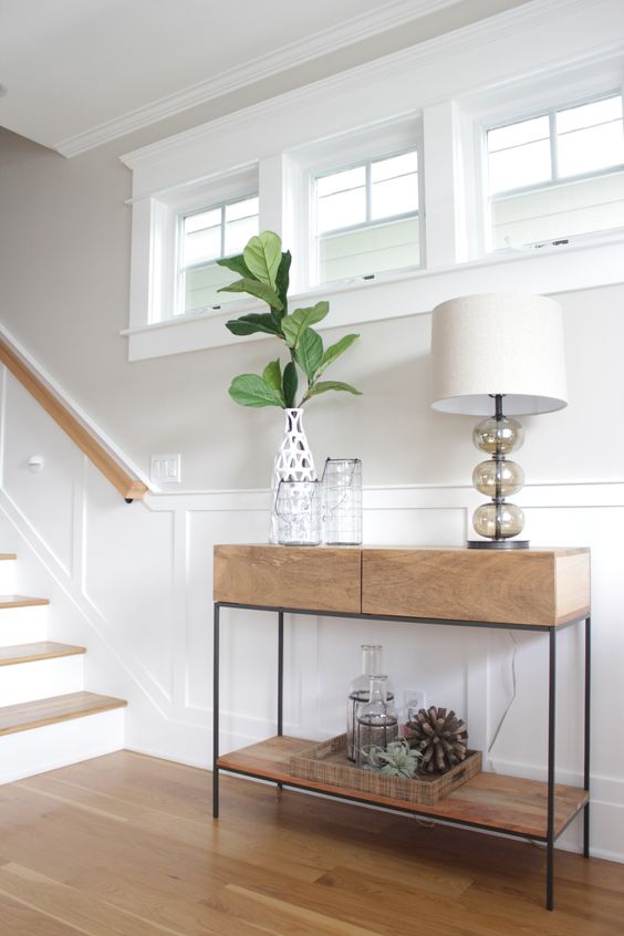 West Elm Industrial Storage Console $499 vs Target Project 62 Loring Console Table $123 modern industrial console look for less copycatchic luxe living for less budget home decor and design daily finds