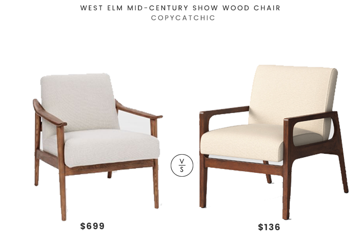 West Elm Mid-Century Show Wood Chair $699 vs Peoria Wood Arm Chair $136 mid century chair look for less copycatchic luxe living for less budget home decor and design daily finds