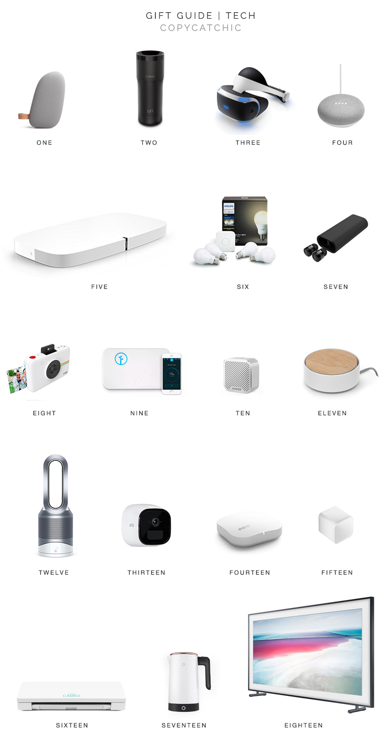Modern minimalist stylish chic gift ideas for tech lovers. Holiday Gift guide Copy Cat Chic hipster faves for tech lovers Luxe living for less