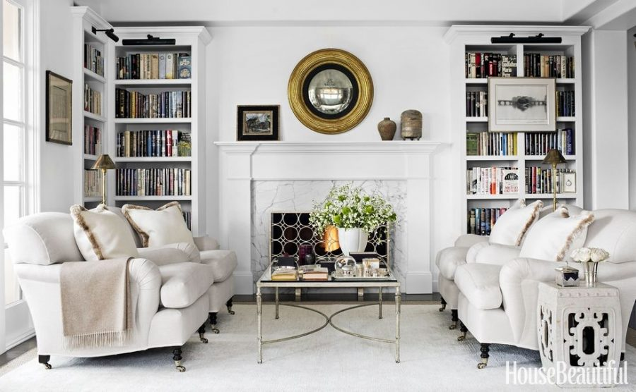 This Traditional Neutral Living Room Designed By John De