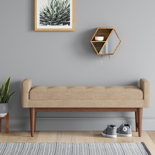 West Elm Landry Bench$499 vs Target Verken Mid Century Modern Settee Bench $149 modern settee look for less copycatchic luxe living for less budget home decor and design daily finds