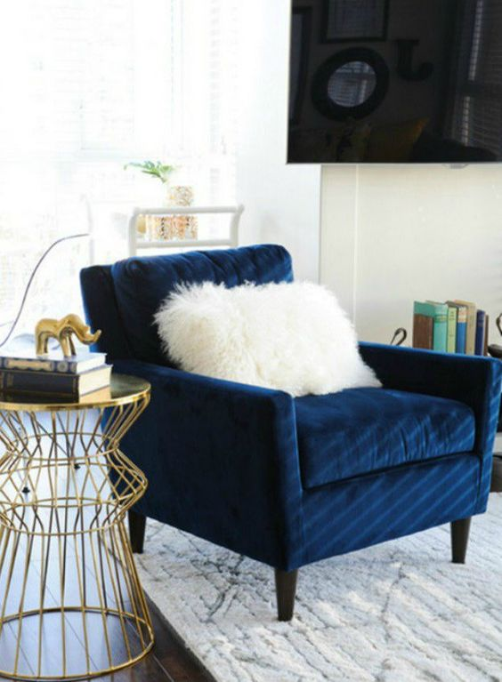 Article Sven Cascadia Blue Chair 799 Vs Taylor Navy Velvet 402 Tufted Armchair