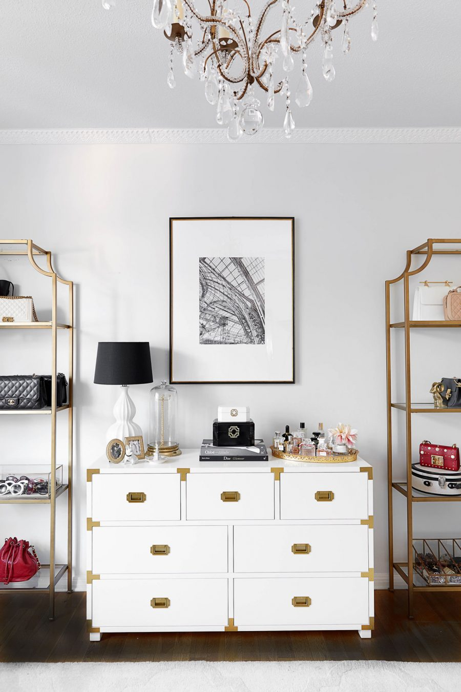 Pottery Barn Kids Gemma Campaign Extra Wide Dresser $1195 vs Home Decorators Collection Chatham 7-Drawer White Dresser $649 white campaign dresser look for less copycatchic luxe living for less budget home decor and design daily finds