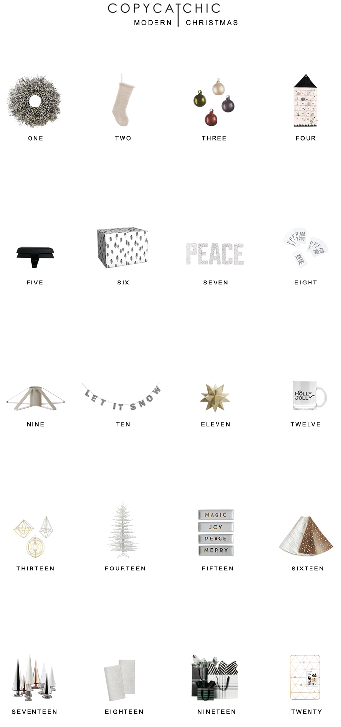 modern minimalist holiday christmas decor for less copycatchic luxe living for less budget home decor and design xmas favorites