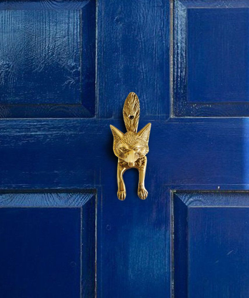 High Street Market Brass Fox Door Knocker $48 vs House of Antique Hardware Fox Door Knocker $17 brass fox door knocker look for less copycatchic luxe living for less budget home decor and design