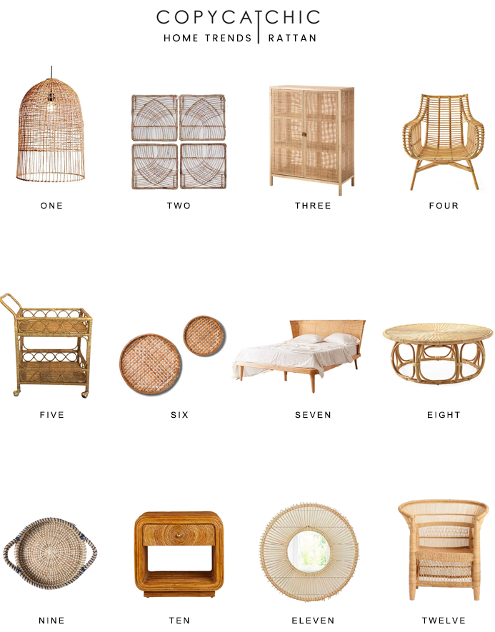 Our favorite rattan and wicker home decor picks from copycatchic luxe living for less budget home decor and design looks for less