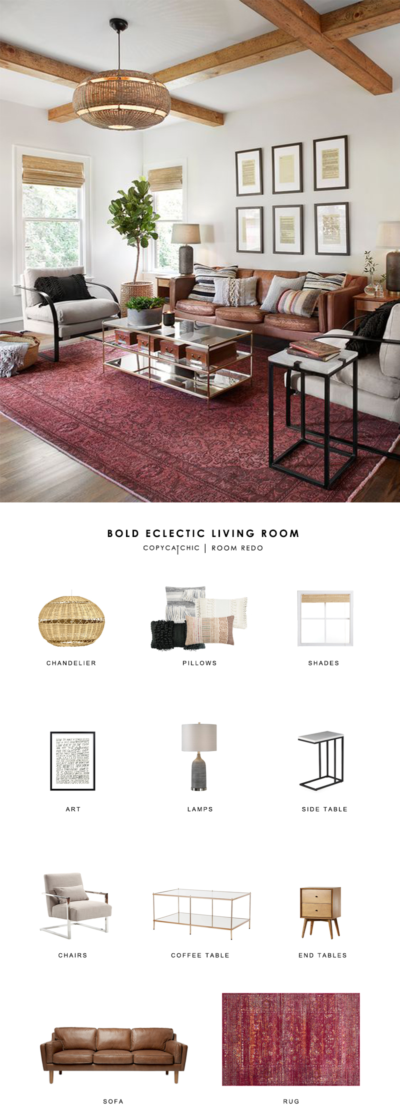 Room Redo | Bold Eclectic Living Room - copycatchic