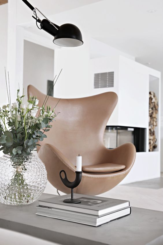 DWR Egg Chair by Lamoderno $17676 vs Houzz Egg Chair $635 leather egg chair look for less copycatchic luxe living for less budget home decor and design daily find