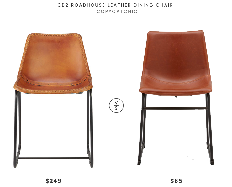 Cb2 Roadhouse Leather Dining Chair $249 Vs Structube HAYDEN Chair $65  Leather Dining Chair Look For
