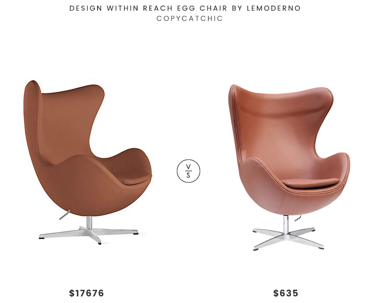 Daily Find Design Within Reach Egg Chair by Lemoderno  : daily find design within reach egg chair by lemoderno lookforless 1 from www.copycatchic.com size 740 x 597 png 175kB