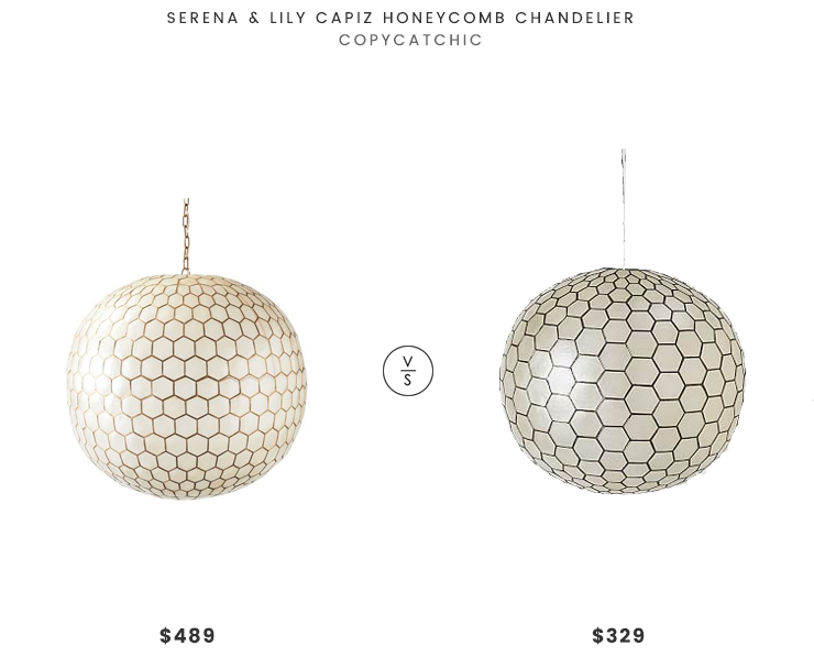 Daily Find | Serena and Lily Capiz Honeycomb Chandelier