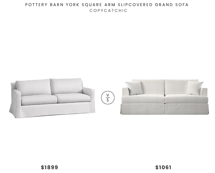 Pottery Barn York Square Arm Slipcovered Grand Sofa $1899 Vs Joss U0026 Main  Everton Sofa $1061
