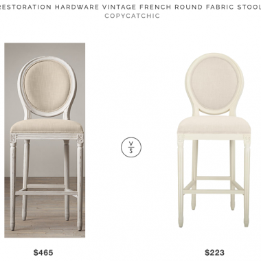 Daily Find | Restoration Hardware Vintage French Round Fabric Stool