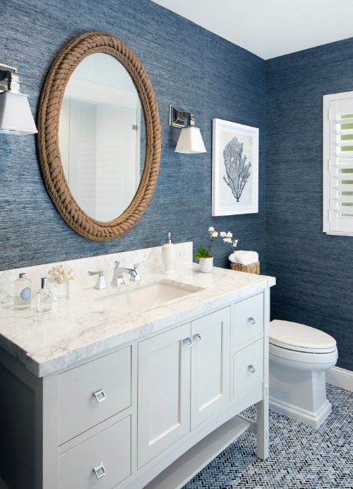 Serena & Lily Nautical Rope Mirror $398 vs Houzz Wrapped Rope Mirror $39 rope mirror look for less copycatchic luxe living for less budget home decor and design daily finds and room redos
