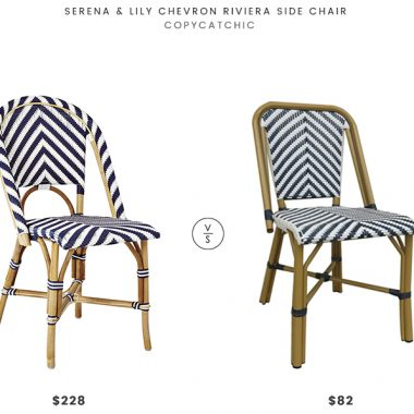 Daily Find | Serena and Lily Chevron Riviera Side Chair