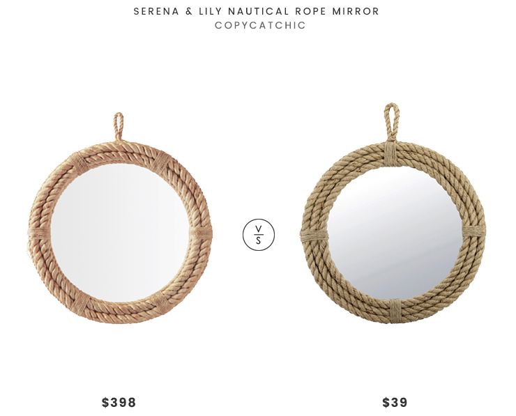 Daily Find   Serena and Lily Nautical Rope Mirror
