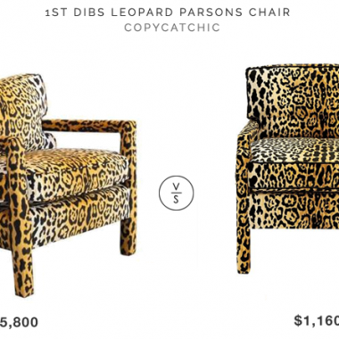 Daily Find | 1st Dibs Leopard Parsons Chair