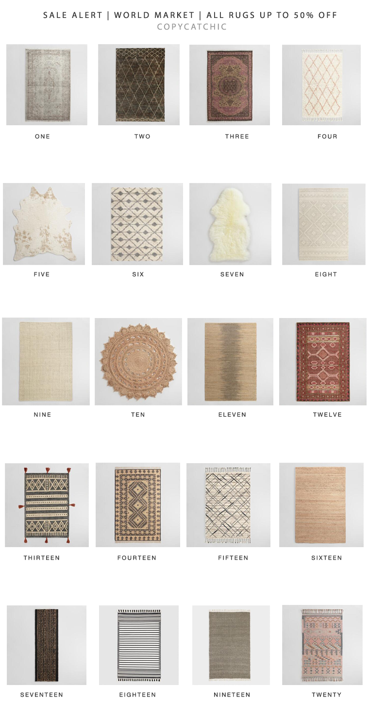 The best of World Market's Rug Sale | Up to 50% on All Rugs | Our favorite picks copycatchic luxe living for less budget home decor and design