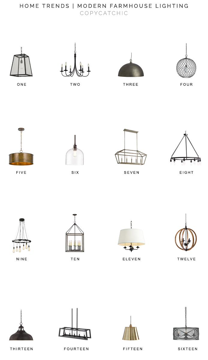 Our fave modern farmhouse lighting picks by Copy Cat Chic luxe living for less budget home decor 16 of our favorite farmhouse and chandeliers and pendants