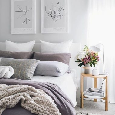 Perfect accent color for spring & summer: dusty lavender. A subtle, feminine, light purple hue that adds the perfect seasonal touch to your home copycatchic luxe living for less