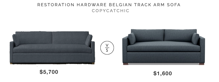 restoration hardware belgian track arm sofa 5700 vs interior define charly sofa 1600 bench seat sofa