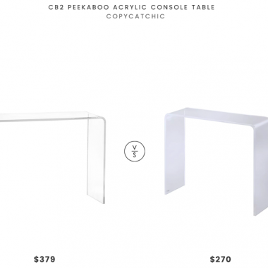 Daily Find | CB2 Peekaboo Acrylic Console Table