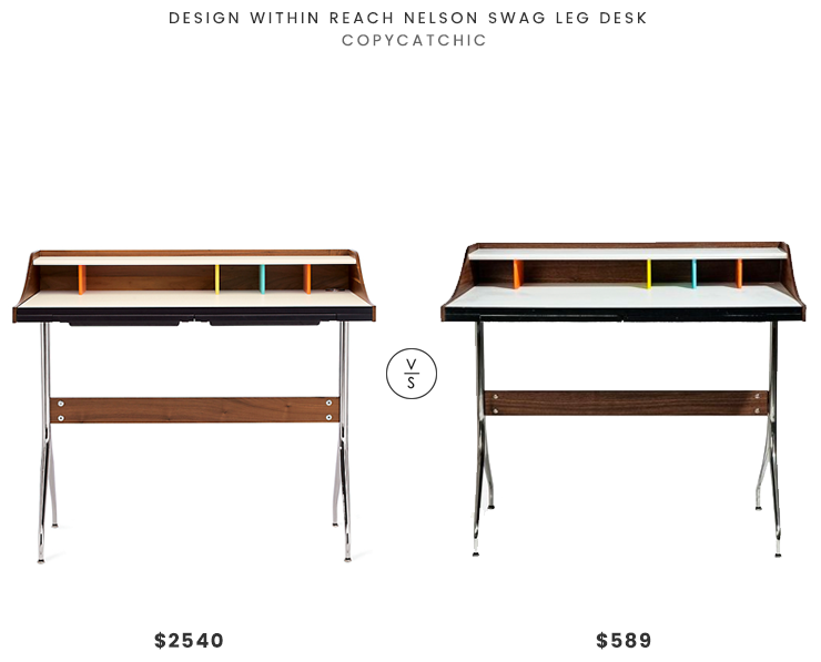 Daily Find | Design Within Reach Nelson Swag Leg Desk