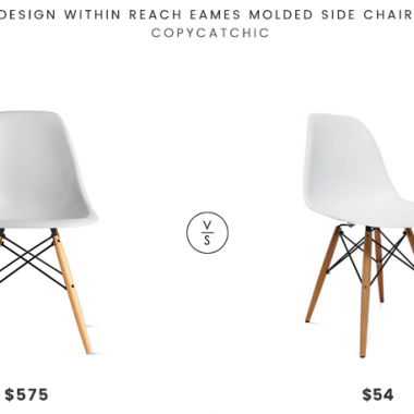 Design Within Reach Eames Molded Side Chair $575 vs Fine Mod Imports WoodLeg Dining Side Chair $53 molded chair look for less copycatchic luxe for less budget home decor and design daily finds and room redos