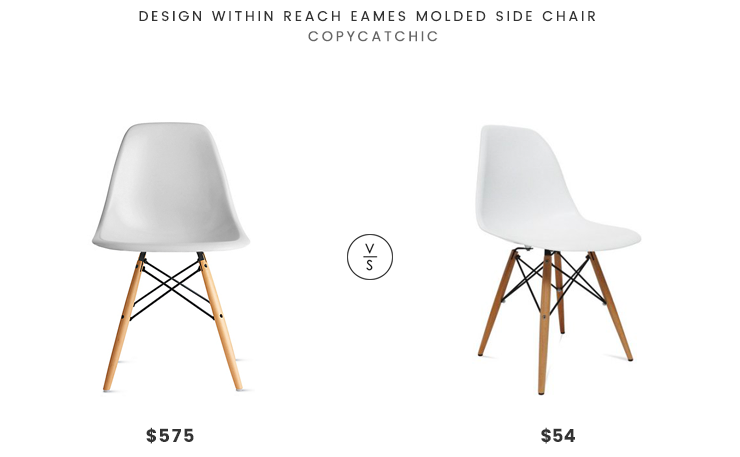 Design Within Reach Eames Molded Side Chair $575 Vs Fine Mod Imports  WoodLeg Dining Side Chair