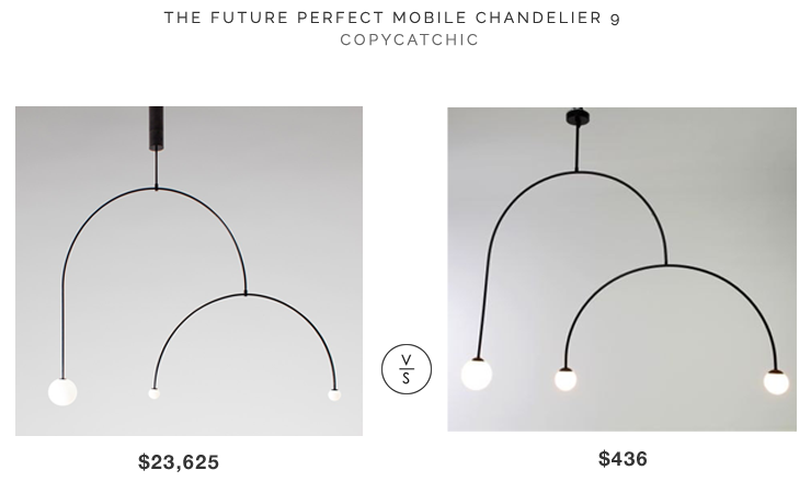 The Future Perfect Mobile Chandelier 9 $23,625 vs NEW PHOBOS Handmade Pendant Light $436 modern mobile chandelier look for less copycatchic luxe living for less budget home decor and design daily finds and room redos
