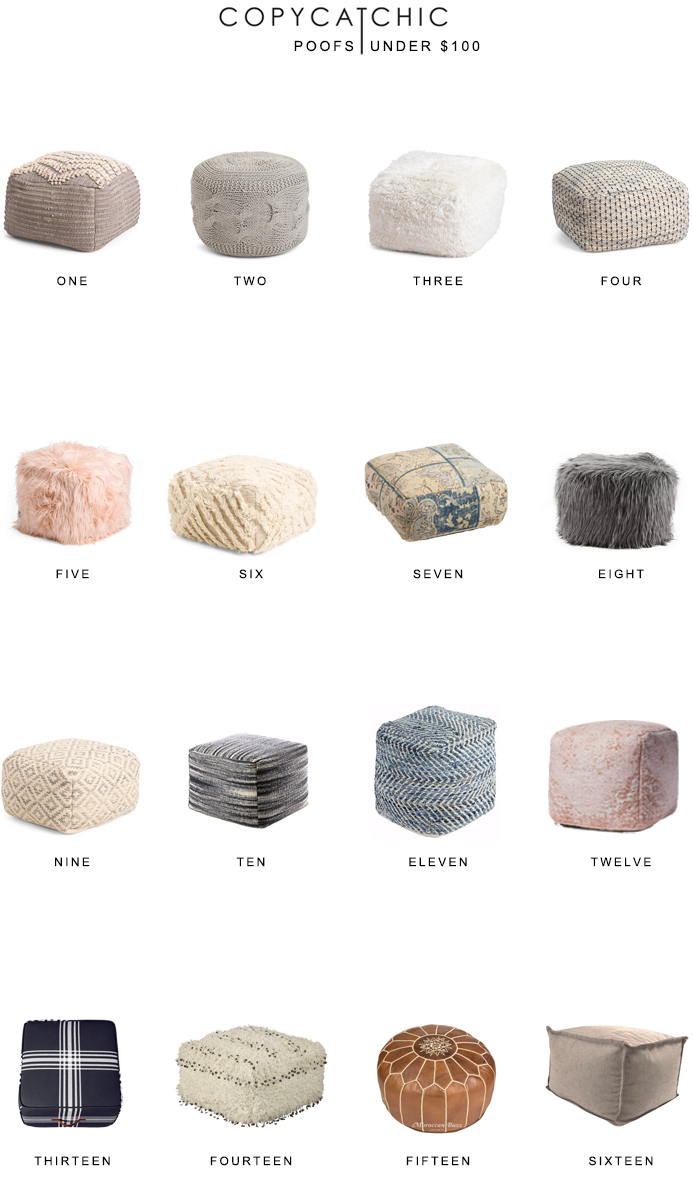 Home Trends | Poufs Under $100