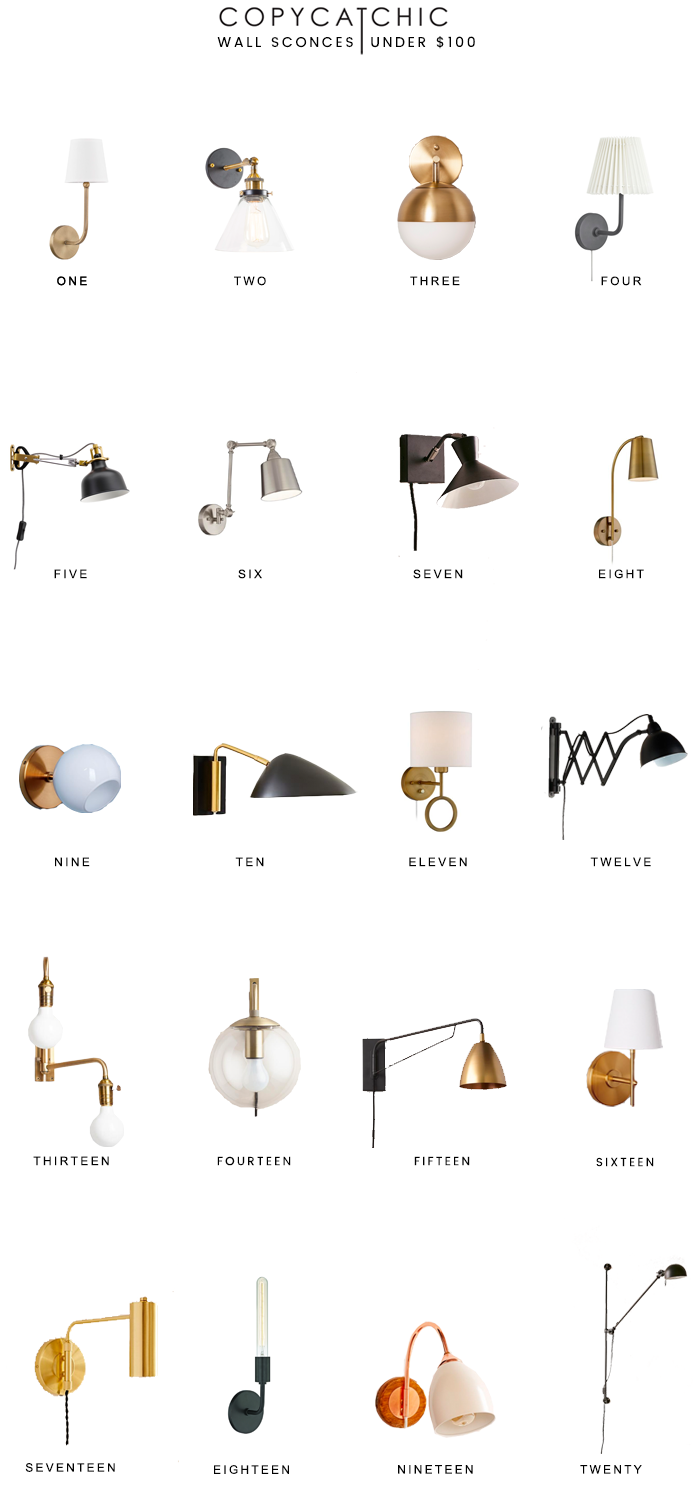 Home Trends | our favorite wall lamps and sconces for under $100 from copycatchic luxe living for less budget home decor and design looks for less