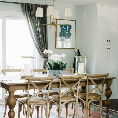 Room Redo | Rustic Transitional Dining Room